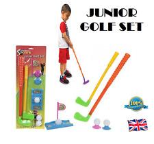 Junior Golf Set Niños Plástico pelotas de golf juego clubes bandera para Niños Juguete Regalo