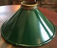 """OLD GREEN METAL INDUSTRIAL / FACTORY / SHOP LAMP SHADE REFLECTOR 7-3/4"""""""