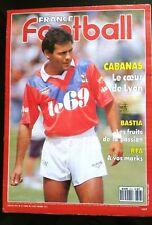 France Football 7/8/1990; Cabanas, le coeur de Lyon/ Bastia/ RFA/ Saint-Etienne