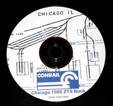 "Conrail 1986 Chicago Zone-Track-Spot ""ZTS"" Maps PDF Pages on DVD"