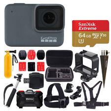 GoPro HERO7 Silver Camera + 64GB Card + Monopod + Case + Head & Chest Strap