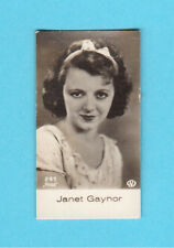 Janet Gaynor Vintage 1930s Movie Film Star Cigarette Card from Germany B