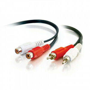 C2G / Cables To Go 40468 Value Series RCA Stereo Audio Extension Cable