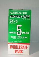 Bulk 5 Fuji Fujifilm Fujicolor Super HRll 100 35mm Film 24. Kodak &CVS film