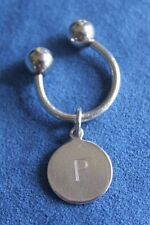 Vintage TIFFANY & CO New York Sterling Silver 925 P Monogram Key Chain Ring