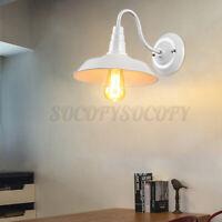 Vintage Industrial Gooseneck Barn Wall Sconce Lamp Fixture Outdoor Wall Light