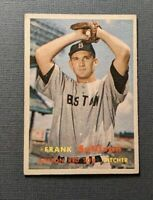 1957 Topps #21 Frank Sullivan Boston Red Sox VGEX