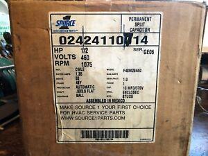 f48m29a450.Description: 1/2 HP Fan Motor, 1075 RPM, 1-Speed, 460V, Single-Phase