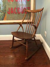 Rare Danish Mid Century Modern Illum Wikkelso Rocking Chair