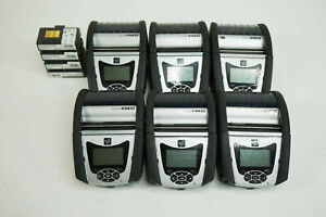LOT of 6 Zebra QLN320 QN3-AUNA0E00-S1 Mobile Portable Handheld Thermal Printer