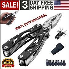 Multi Tool Knife Pliers Saw Kit Folding Knives Multitool & Screwdriver Bits Set