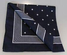 Halstuch große Punkte blau Vierecktuch 70x70cm Bandana Nikki maritimesTuch