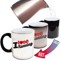 Funny Mugs - I Love Running - Joke birthday gift Pun MAGIC NOVELTY MUG