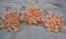 GARDENIA Mulberry Paper Flowers Orange/Peach  6CM Card making Scrap booking