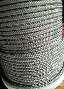 12mm x 5m GREY DOUBLE BRAID DYNEEMA SPECTRA MARINE YACHT HALYARD rope 7100kg