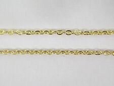 3 mètres de chaine dorée maillon plat 3 mm x 2 mm pour fabrication-fca033