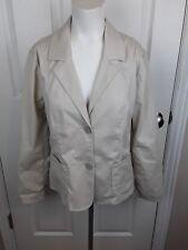 J Jill Women`s Long Sleeved Khaki Button Down Blazer Size Medium