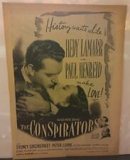 "1944 Black and White Hedy Lamar Magazine Clipping "" The Conspirators"" Amazing!"