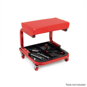 Padded Creeper Seat Rolling Roller Seat Trolley Workshop Stool Tool Tray