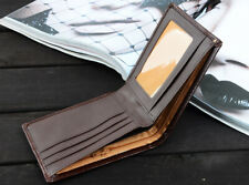 Leather Slim Wallets For Men Trifold Mens Wallet ID Window RFID Blocking purse~