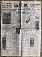 N33 La Une Du Journal La Loire 8 Octobre 1940