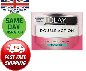 Olay Double Action Moisturiser Day Night Cream Face Hydrate 50ml Sensitive Skin