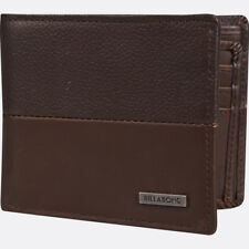 BILLABONG MENS WALLET.FIFTY50 REAL LEATHER BROWN CARD COIN NOTE PURSE 8S LW01 92