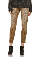 Womens Current Elliott The Stiletto Denim Jeans In Camel Leopard Size 23