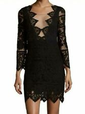 For Love and Lemons Noir Lace Mini Dress Womens Medium M Black Sexy $250 A383