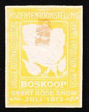 VINTAGE CINDERELLA Boskoop Rose Flower Expo Netherlands Old Hinge Tape Remnant G