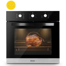 """24"""" Electric Built-In Single Wall Oven 220V Tempered Glass Push Buttons Control"""