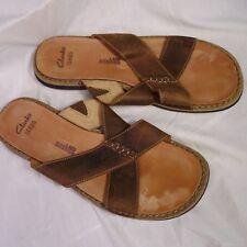 Clarks Mens Sandals Lynton Easy Tan Leather w/ Cushion