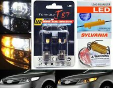 LED Switchback Light 3030 White Amber 1157 Two Bulbs Resistor F Turn Signal DRL