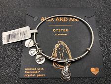 Authentic Alex and Ani Oyster (ii) Rafaelian Silver Charm Bangle