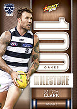 2016 AFL Footy Stars Trading Cards Milestones Subset MG28 Mitch Clark(Geelong)