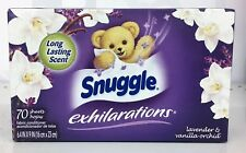 Snuggle Exhilarations Lavender & Vanilla Orchid Softener Dryer Sheets 70ct