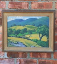 C1915 California Landscape Painting By Chicago And Woodstock Artist Carl Lindin.