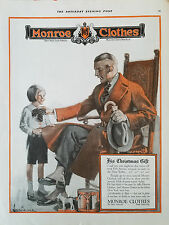1920 Vintage Monroe Clothes Mens Overcoat Fashion Child Toy Drum Clothing Ad