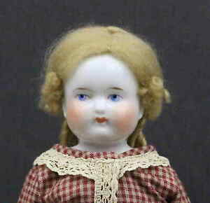 ANTIQUE  CHINA   DOLL  with  BALD  HEAD  so-called  'BIEDERMEIER STYLE'