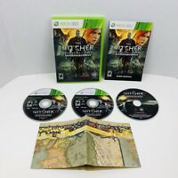 The Witcher 2 Assassins Of Kings Enhanced Edition Xbox 360 3 Disc Set Manual Map