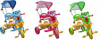 THREE WHEEL BIKE TRICYCLE SCOOTER BABY CHILD BEAR puppy TRIKE PARENT HANDLE
