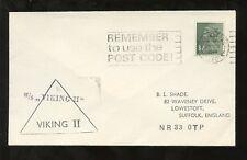 GB QE2 MACHIN 3 1/2p 1974 POSTED atSEA SHIP MS VIKING 2