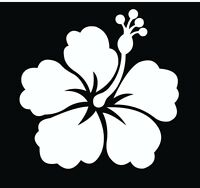 Hawaiian Hibiscus Flower Vinyl Car Decal Decals Sticker Window Wall Truck