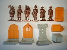 METAL FIGURINES SET - SWISS GUARD SOLDIERS COPPER -  KINDER SURPRISE MINIATURES