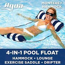 "Aqua Pool Loungers Monterey 4-in-1 Multi-Purpose Inflatable Hammock (Saddle, """