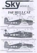 Sky Models Decals 1/48 GRUMMAN F6F HELLCAT Fighter