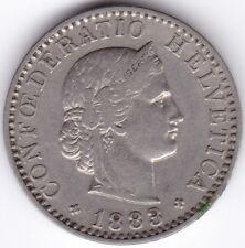 1883 Switzerland 20 Centimes | Pennies2Pounds