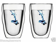 Clear Glass Cofee Milk Tea Cups Double Wall Thermo Mugs Glasses 0.35L Set of 2
