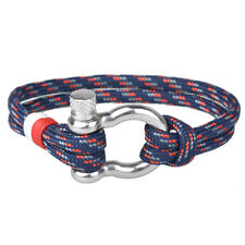 6 Colors Stainless Steel U Shaped Buckle Paracord Rope Nautical Sailing Bracelet