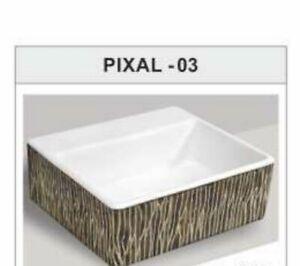 SALE - Modern Square Table Top Wash Basin Designs Small Lav Toilet Bathroom Sink